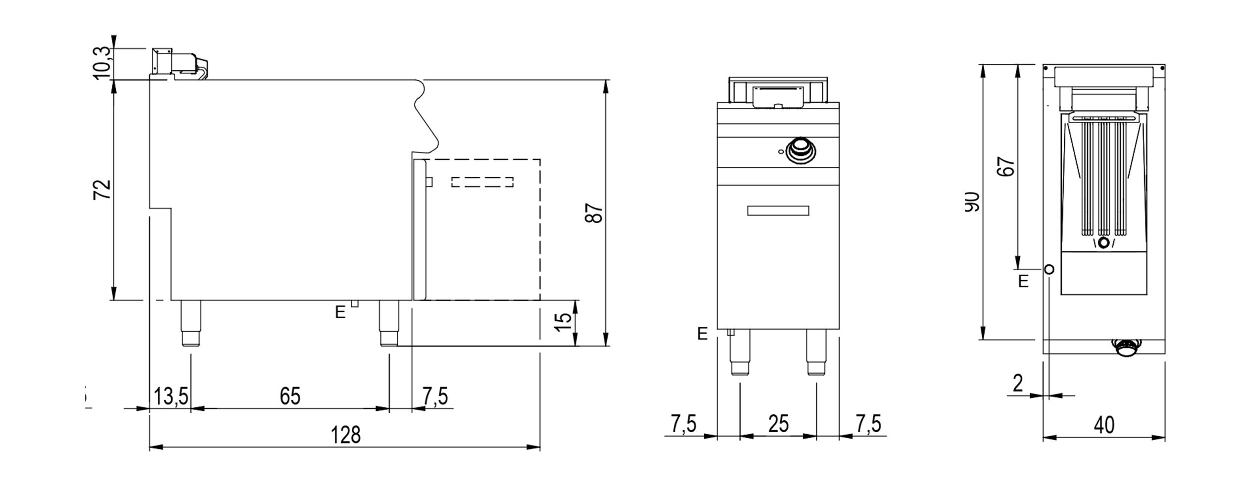 Technical datasheet drawing