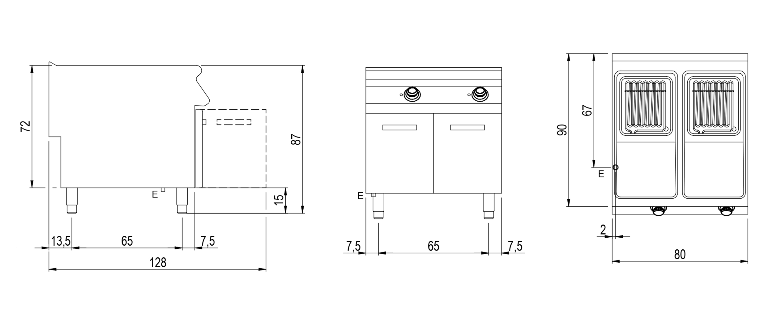 Technical datasheet drawing