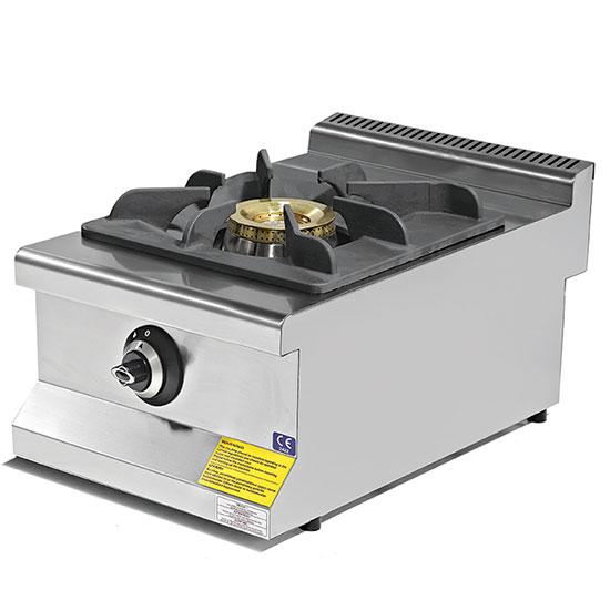 Plano de cocción a gas con 1 quemador 8,65 KW