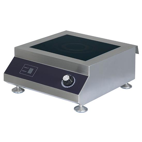 Placa de indução de bancada 5 kW, 1 placa 300x300 mm