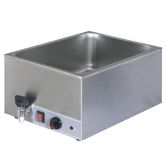 Elektro-Bainmarie mit Ablasshahn, Tischmodell, 1 Becken GN 1/1 H=150 mm