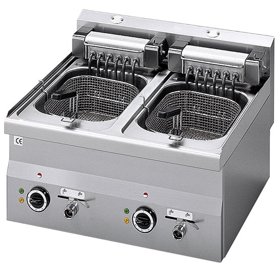 electric fryer, tabletop, 10+10 litres - 18 kW