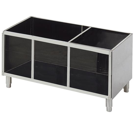 soubassement ouvert pour appareils de table l=1400 mm