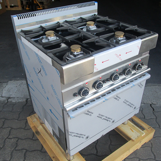 kuchnia gazowa 4.palnikowa, piekarnik gazowy - SHOW ROOM