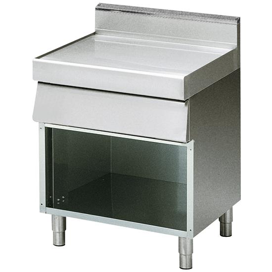 element neutralny z szuflada, na podstawie otwartej