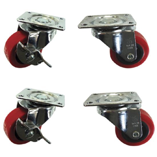 Räderkit mit Bremse für Teigkneter