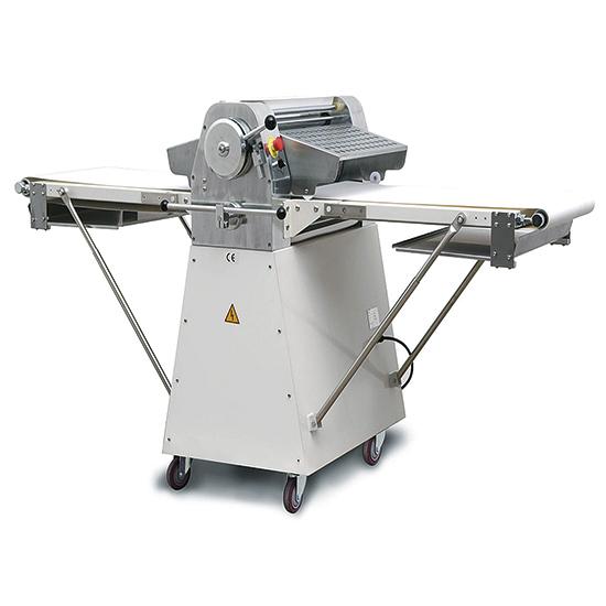 rozdzielacz ciasta, na kólkach, walki dl.=520 mm, stoly dl.=965 mm, 1 predkosc