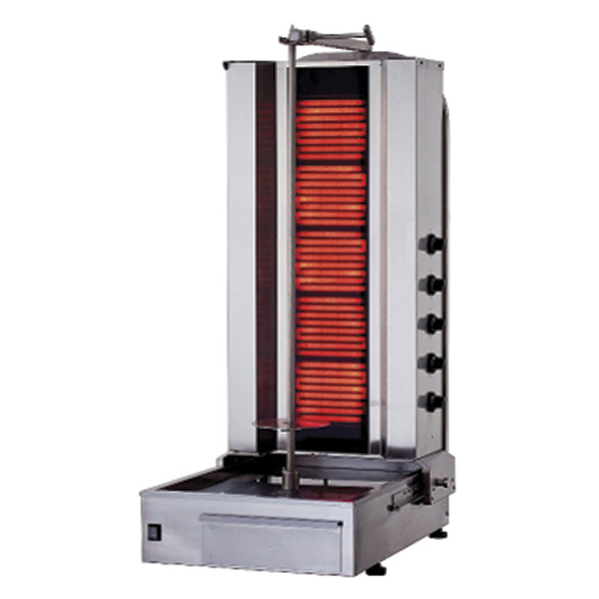 kebab elektryczny, z 5. grzalkami, 60-80 kg