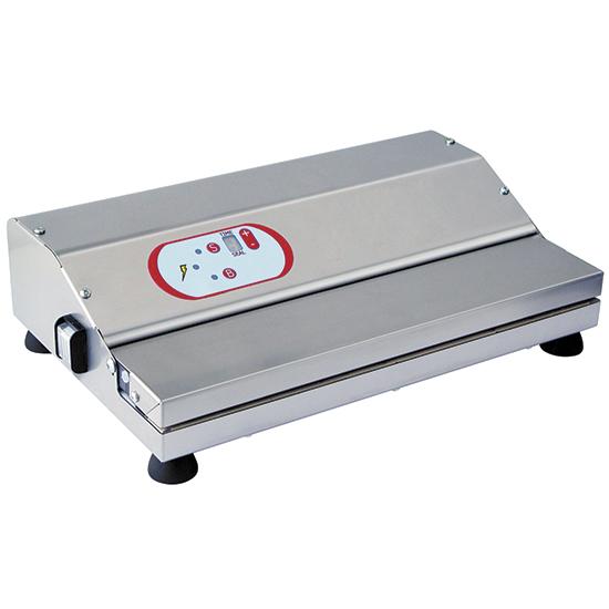 Vakuummaschine in Edelstahl, Tischmodell, Schweißbalken 450 mm