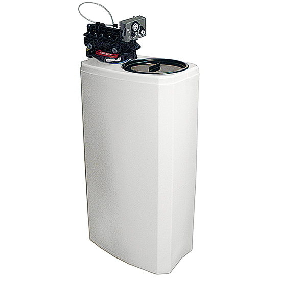 automatischer Wasserentkalker, Kapazität 8 Liter, 800 Liter/h, Salzreserve 25 kg