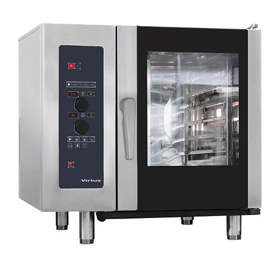 Elektro-Konvektionsofen mit Direkteinspritzung und automatischem Reinigungssystem, 6x GN 1/1