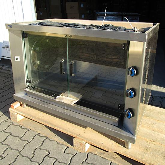 Elektro-Planetenhähnchengrill mit Beleuchtung, 6 Spieße für 36 Hähnchen - DEFEKT