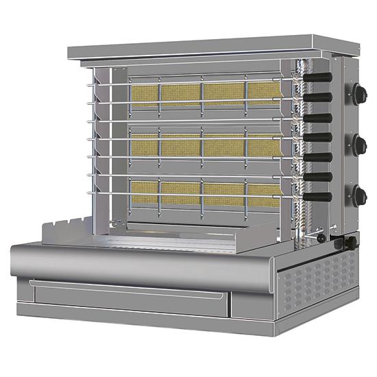 grill elektryczny churrasco, 7 rozen