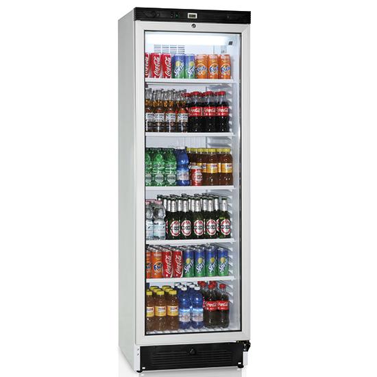 Getränkekühlvitrine 379 Liter mit Glastür und 5 Roste, +1°/+10°C