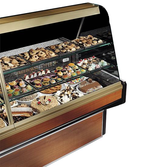 vitrina expositora refrigerada estática para pastelería con 2 estantes, +4°/+6°C, l=1500 mm