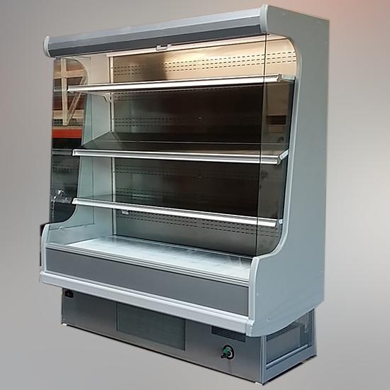 Wandkühlregal für Milchprodukte mit 4 Regalböden, +3°/+7°C, B=1800 mm - GEBRAUCHT