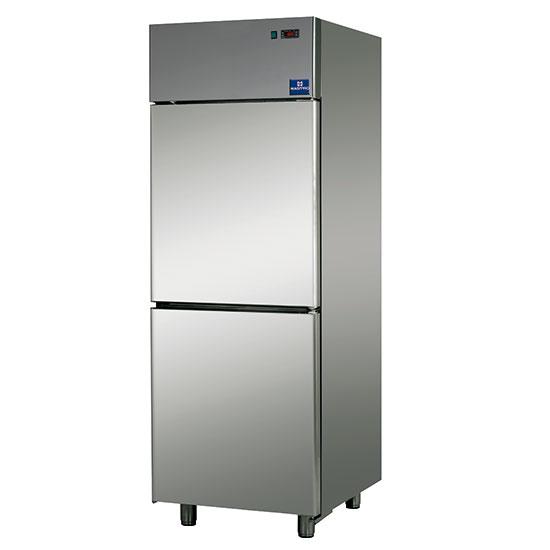 Kühlschrank 600 Liter aus Edelstahl mit 2 Türen, 0°/+10°C