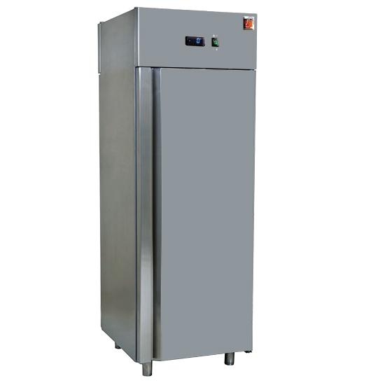 Kühlschrank 700 Liter aus Edelstahl, GN 2/1, -2°/+8°C