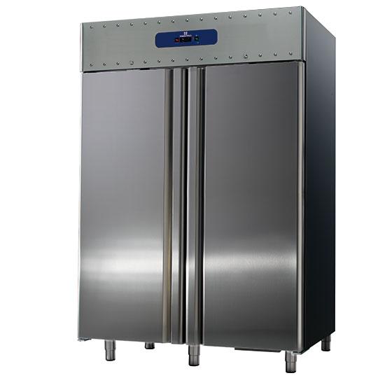 Tiefkühlschrank 1400 Liter aus Edelstahl, GN 2/1, -10°/-25°C, 85 mm Isolierung