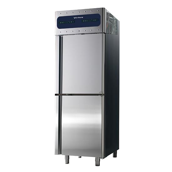 Tiefkühlschrank 350+350 Liter aus Edelstahl, GN 2/1, -10°/-22°C