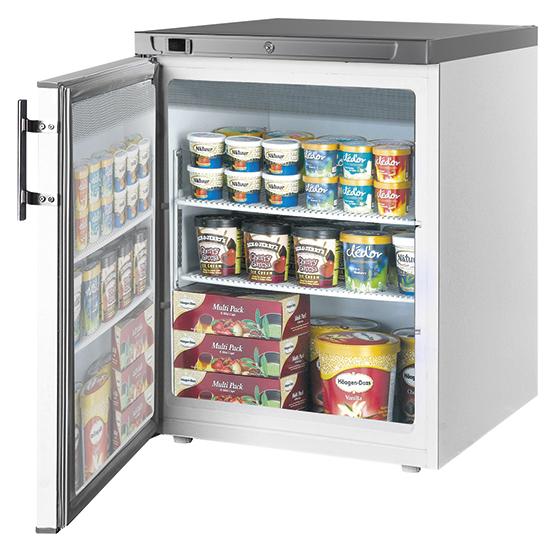 Unterbautiefkühlschrank, 145 Liter, -18°/-23°C
