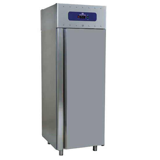Kühlschrank 700 Liter aus Edelstahl, GN 2/1, -2°/+8°C, 85 mm Isolierung