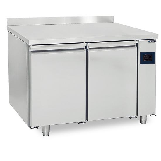 Kühltisch 2 türig GN 1/1 für Zentralkühlung mit Aufkantung, -2°/+8°C