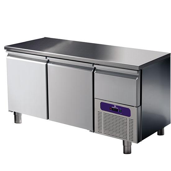 Kühltisch 2 Türen GN 1/1 mit gekühlter Schublade, -2°/+8°C