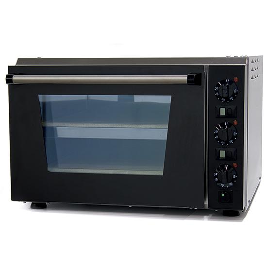Elektro-Pizzaofen für 1+1 Pizzen ø 34 cm, mechanische Bedienung
