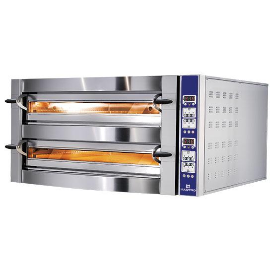 Elektro-Pizzaofen für 9+9 Pizzen ø 35 cm, digitale Bedienung