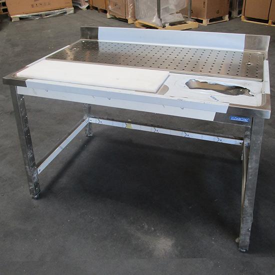 Mesa de preparação para carne, c=1200 mm - USADA