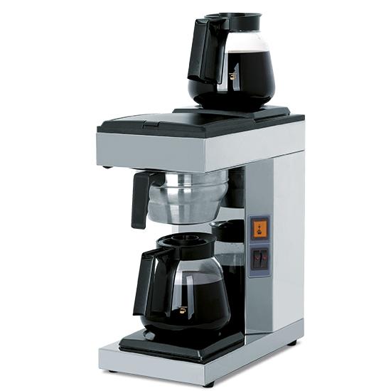 Filterkaffeemaschine mit 2 Glaskannen 1,8 Liter, manuell