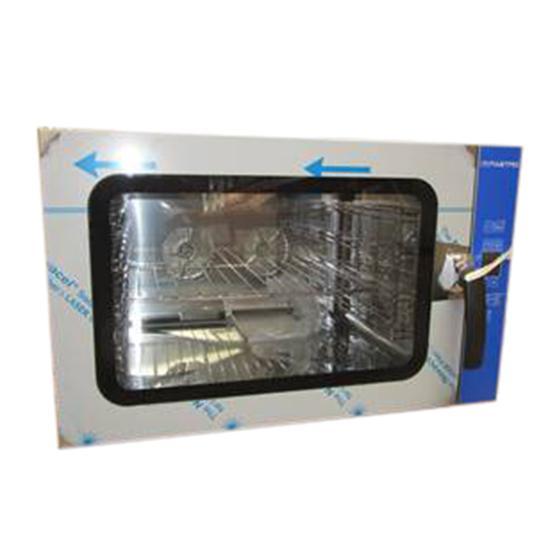 Horno mixto eléctrico programable con humidificador, 4x GN 1/1 o 600x400  -  - DAÑADO