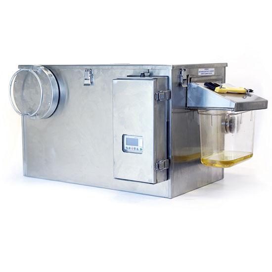 Automatischer Fettabscheider mit mit Reinigunszyklus und Timer, Fließate 0,95 Liter/ Sekunde