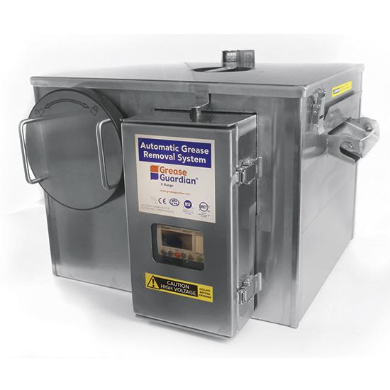 Automatischer Fettabscheider mit Reinigunszyklus und Timer und, Fließrate 0,5 Liter/ Sekunde