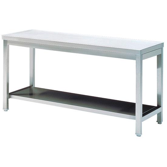 Arbeitstisch mit Zwischenboden, ohne Aufkantung, 2000x700 mm - GEBRAUCHT