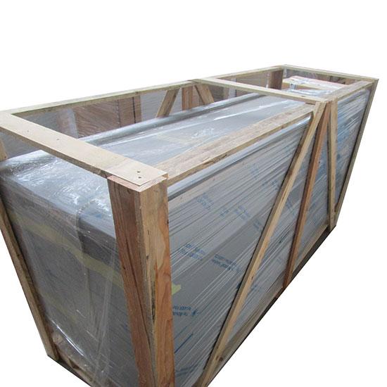 Bancada aquecida fechada, com portas de correr, com alçado, 2000x700 mm - DANIFICADO