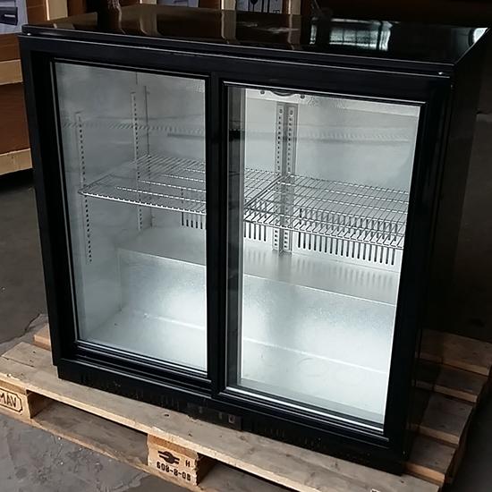 Unterbaukühlschrank mit 2 Glasschiebetüren, 208 Liter, +1 °C/+10 °C - DEFEKT
