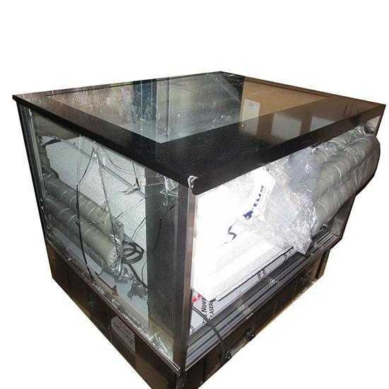 Kalte-Theke mit 2 Glasböden und Schiebetüren, +2°/+10°C - Defekt