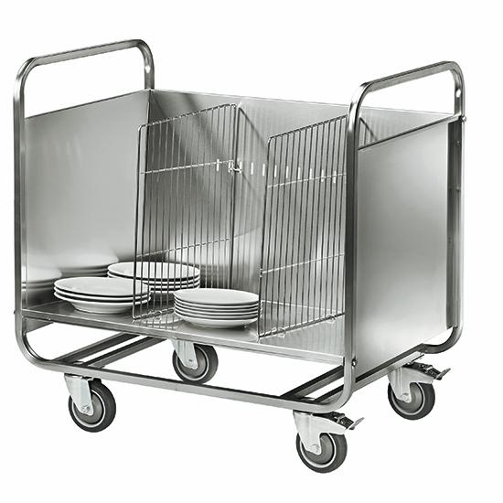 wózek transportowy na talerze, pojemnosc 200 talerzy