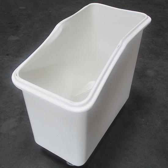 Rollcontainer für Lebensmittel auf 4 Rädern mit Schiebedeckel, 102 Liter - BESCHÄDIGT