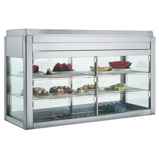 Kühlvitrine mit 2 Regalböden unten offen, B=1600 mm