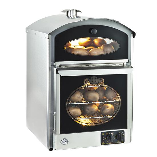 Kartoffelbackofen mit beheiztem Display, Ofenkapazität 60 Kartoffeln