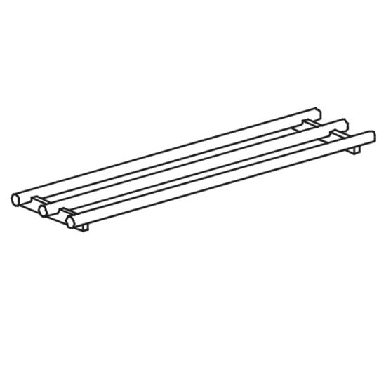 feste gerade Tablettrutsche, rohrförmig, B=2000 mm