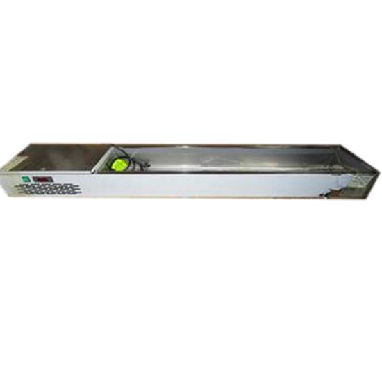 Kühlaufsatzvitrine 6x GN 1/3 H=150 mm, +0°/+10°C, Kompressoreinheit links - BESCHÄDIGT