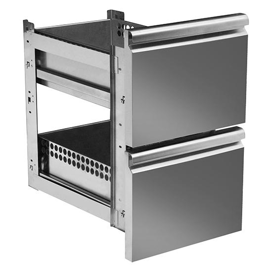 Schubladenkit 2x 1/2 für Kühltische mit Tiefe 700 mm