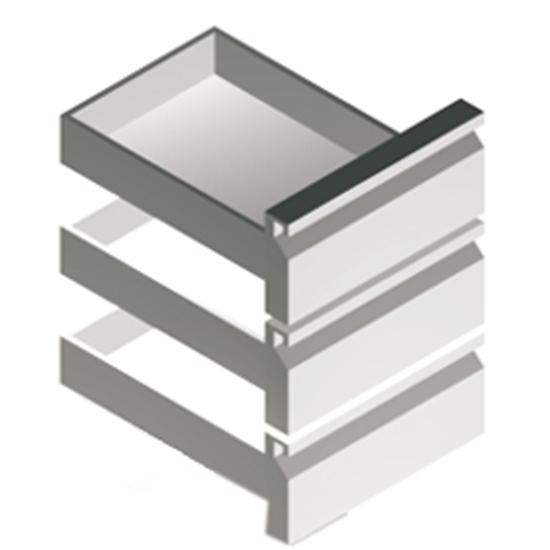 Schubladenkit 3x GN1/3, für Kühltische