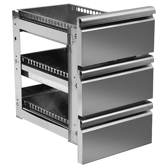 Schubladenkit 3x 1/3 für Kühltische mit Tiefe 700 mm
