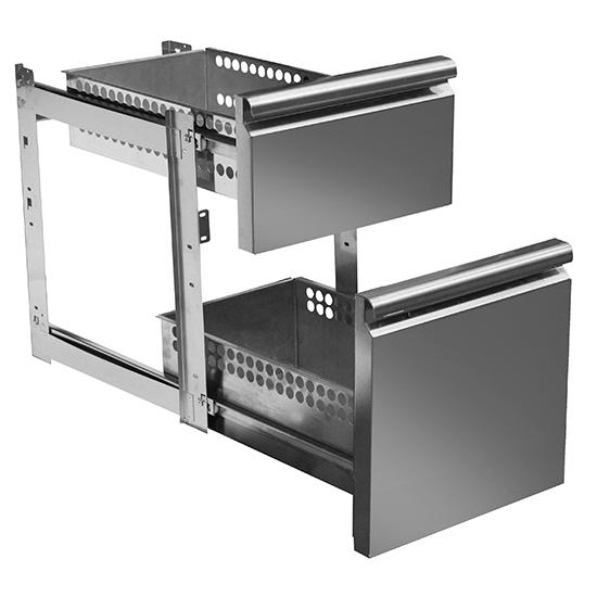 Schubladenkit 1x 1/3 und 1x 2/3 für Kühltische mit Tiefe 700 mm