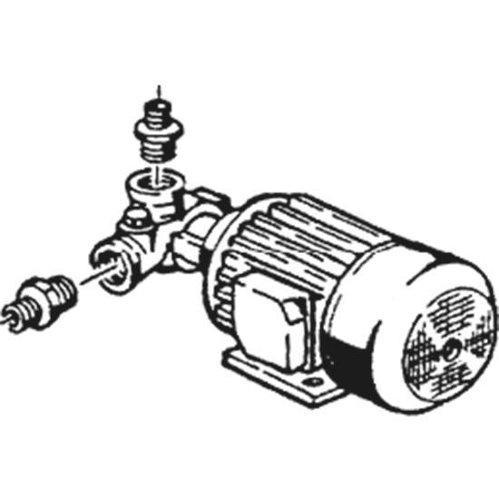 Pumpe Typ W210SX 230V 50Hz Phasen 1 0,24kW 0,33PS L 230mm Laufrichtung rechts Kondensator 6,3µF LGB